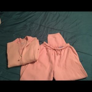 Pink jogging outfit